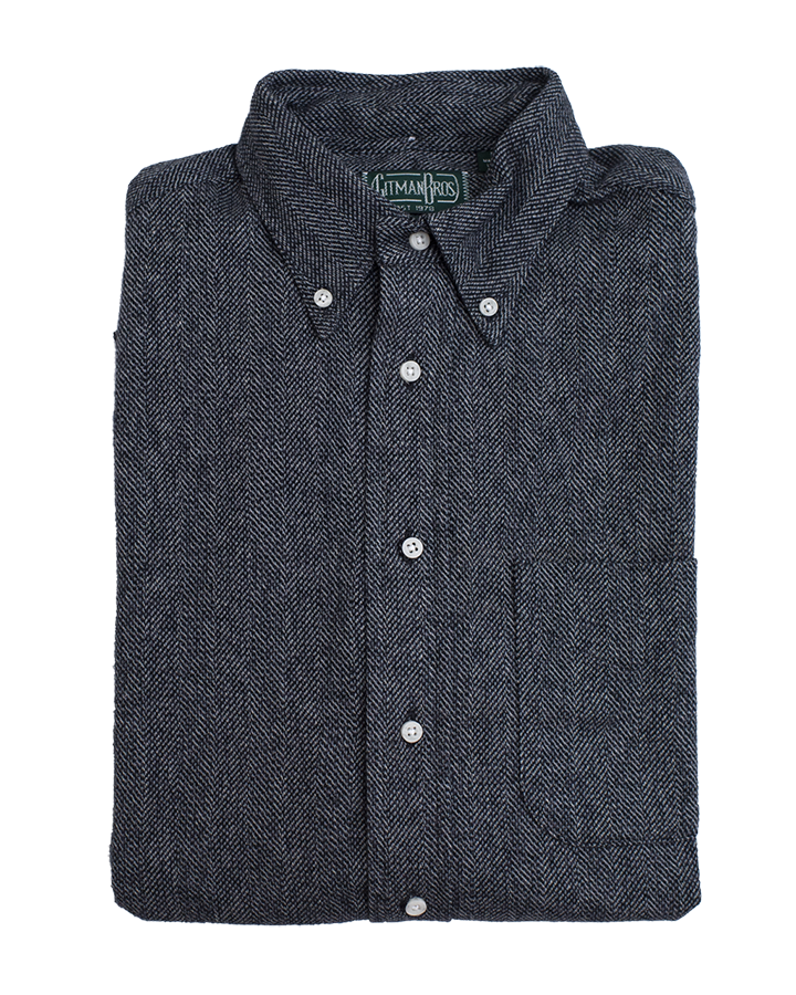Classic Shirt - Grey Cotton Tweed