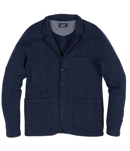Nelson Jacquard Plaid Swacket - Navy Marl