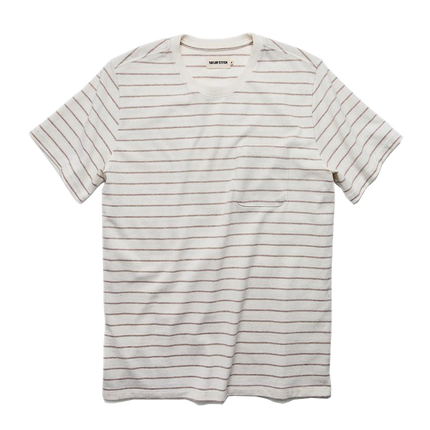 The Heavy Bag Tee - Natural Stripe