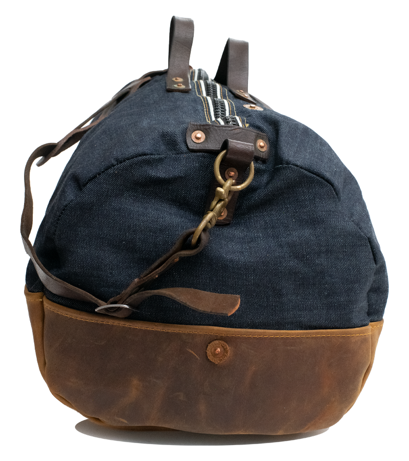 Selvedge Duffel - Indigo/Brown - Special Edition