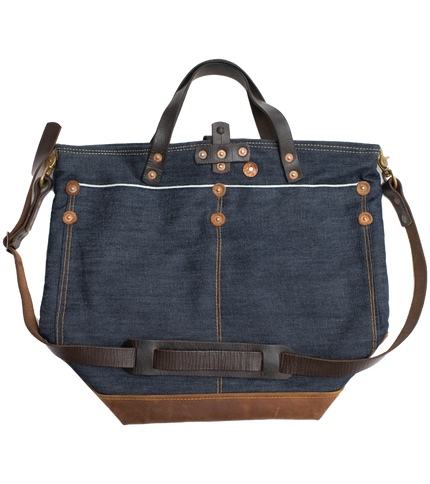 Selvedge Work Tote - Indigo/Brown - Special Edition
