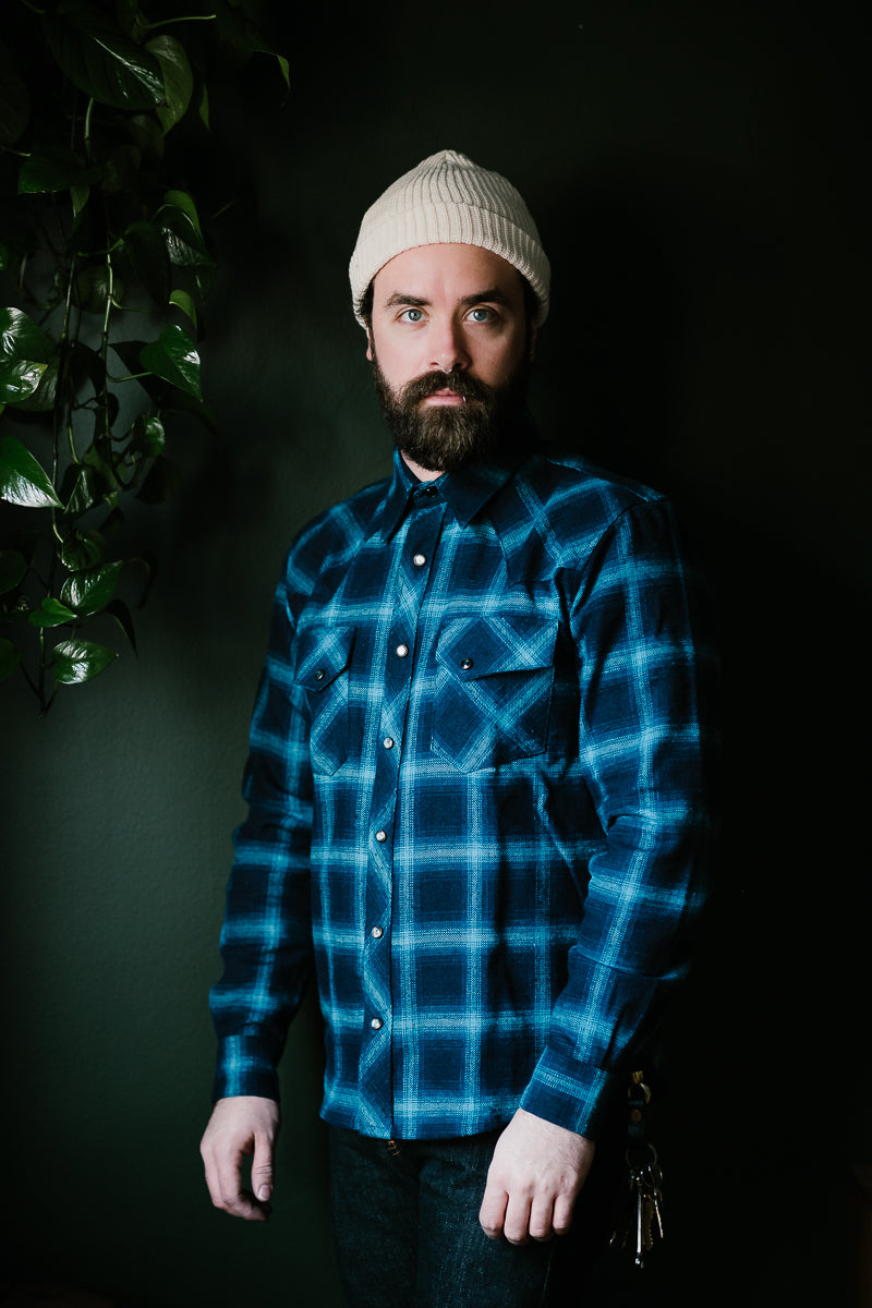 Dawson Check Flannel - Indigo Check