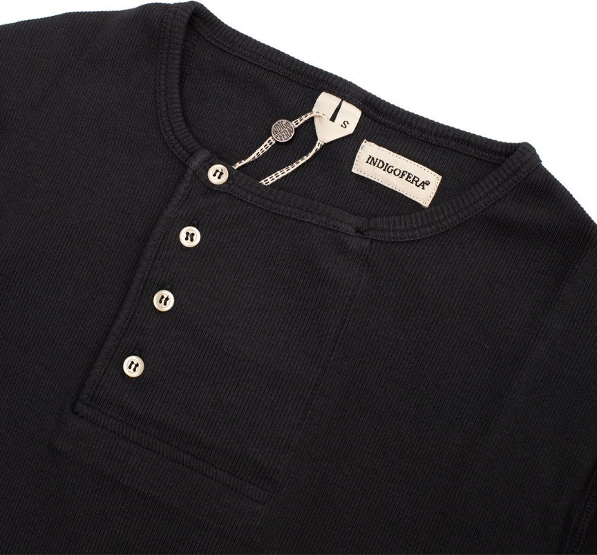 Hank - Cotton Rib - Marshall Black
