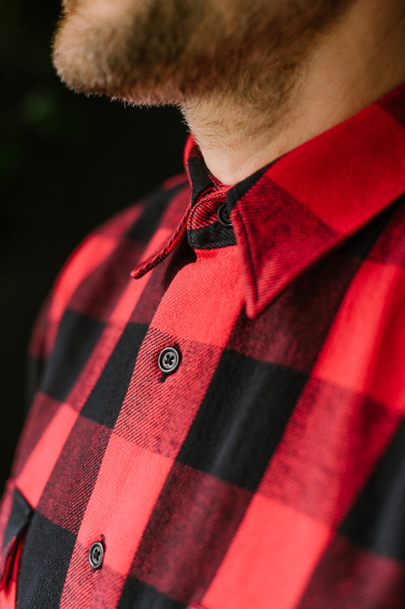 Norris Check Flannel - Red, Black