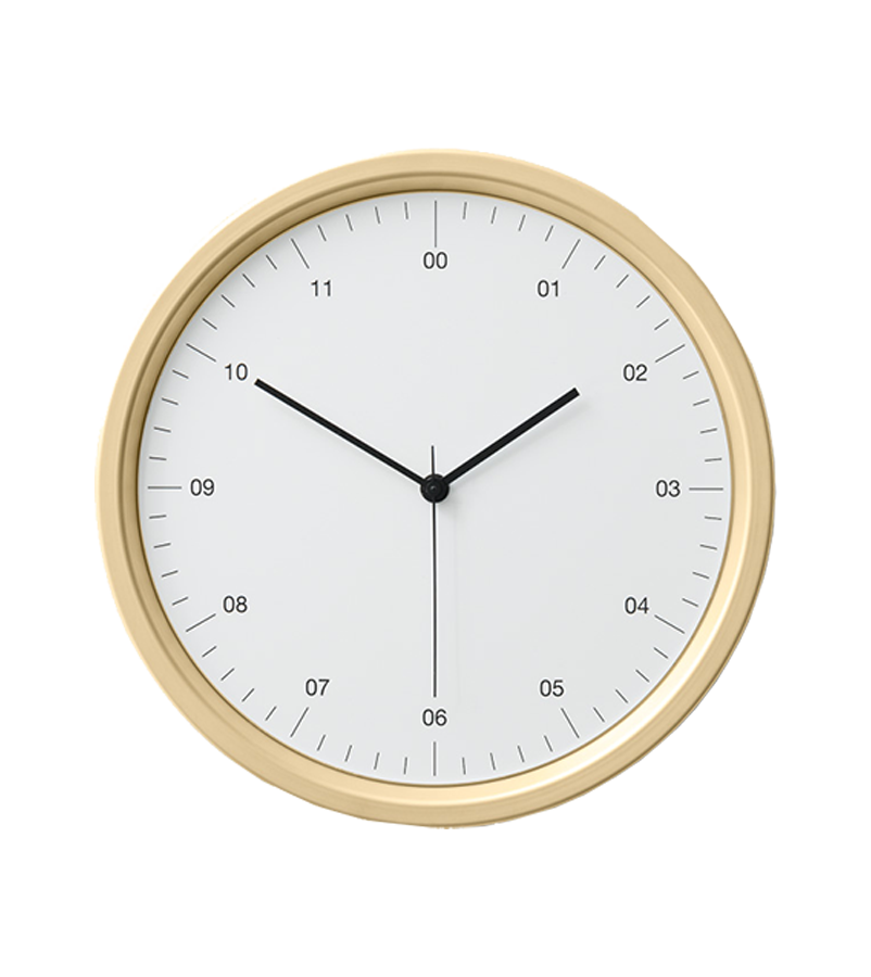 Instrmnt Clock - Gold