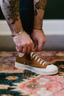 IHSN-01-BRN - 17oz Cotton Duck Low-Top Sneakers - Brown