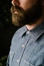 IHSH-21-BLU - 10oz Selvedge Chambray Work Shirt - Blue