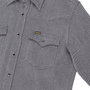 IHSH-254-GRY - Top Dyed Kersey Western Shirt - Grey