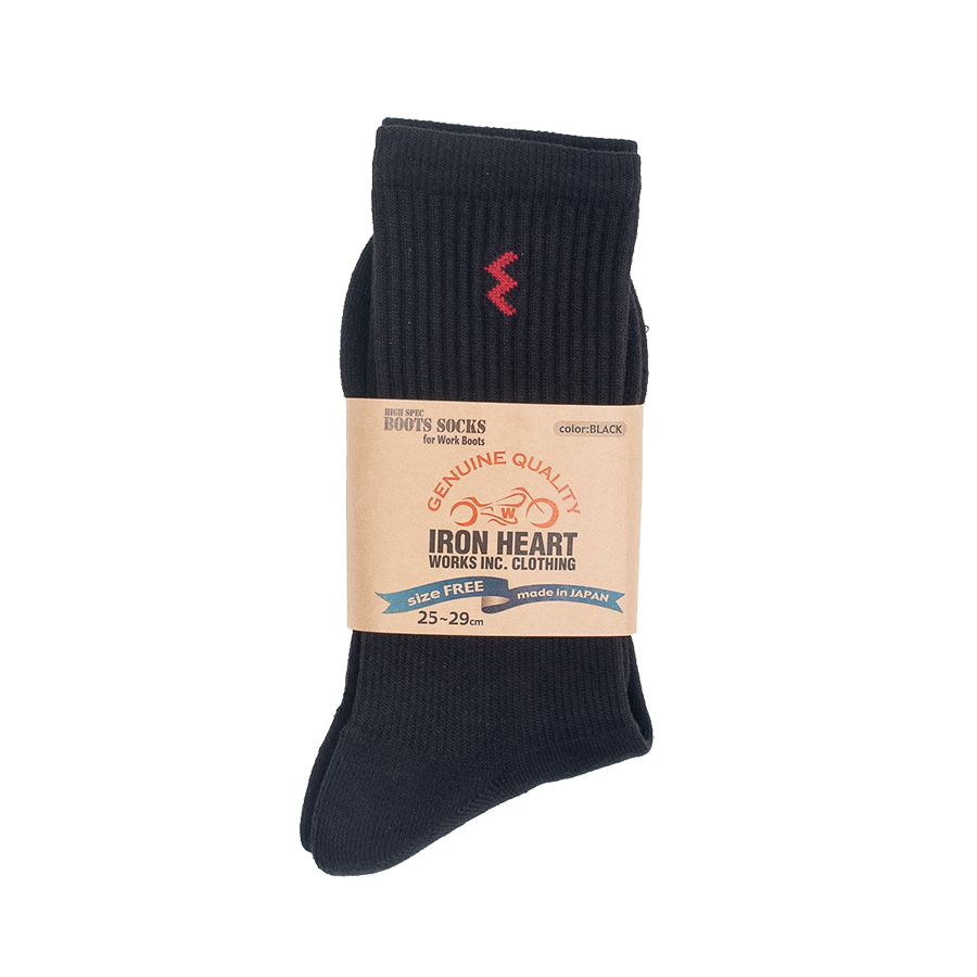 IHG-030 - Iron Heart Work Boot Sock - Black