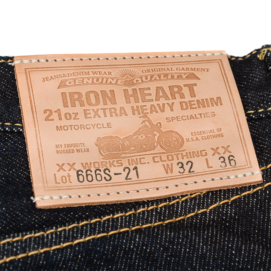 IH-666S-21 - 21oz Selvedge Denim Slim Straight Cut Jeans - Indigo