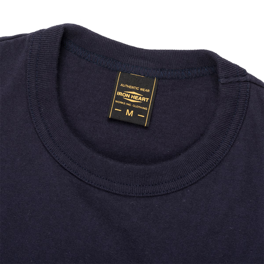 IHT-1610S - 6.5oz Loopwheel Crew Neck T-Shirt - Navy Blue