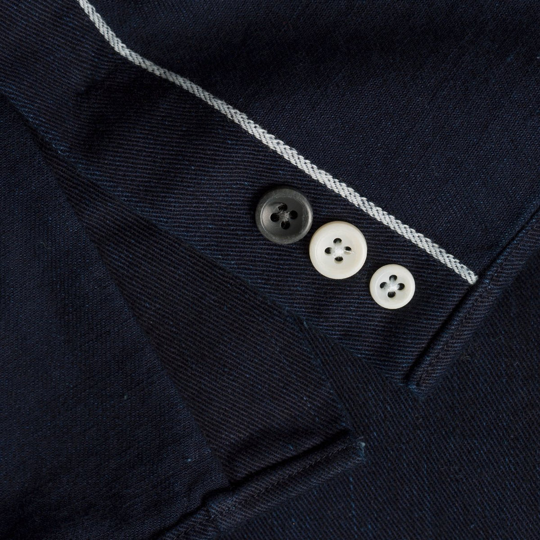 The Jack Button Down - Washed Indigo Twill