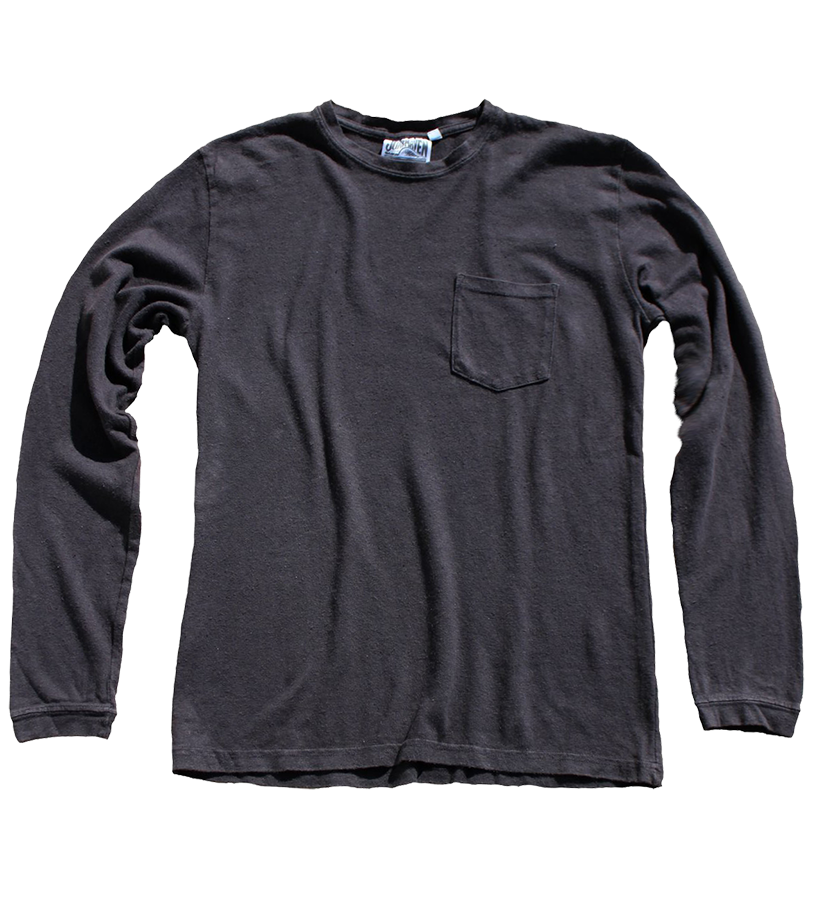 Baja Pocket Tee Long Sleeve - Black