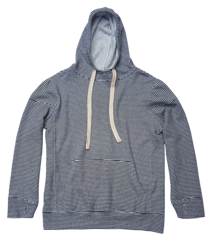 Stripe Maui Hooded Sweatshirt - Navy
