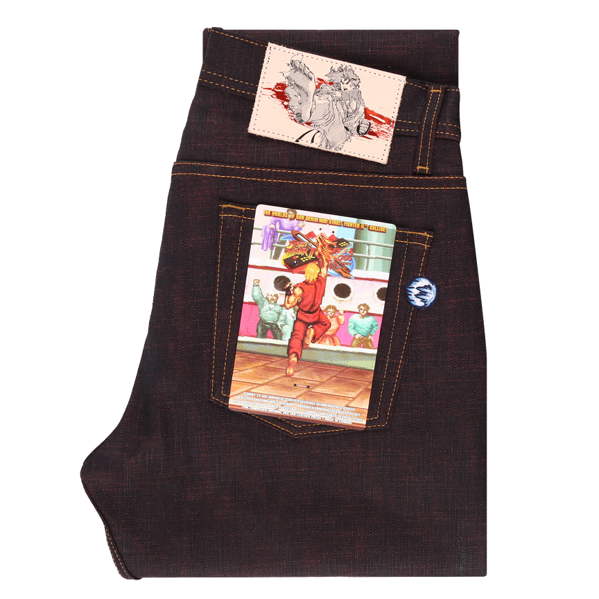 12.5oz - Street Fighter II - Ken Shoryuken Stretch Selvedge - Super Guy