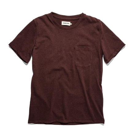 The Heavy Bag Tee - Burgundy