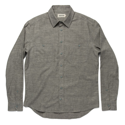 The L/S California - Olive Hemp Chambray