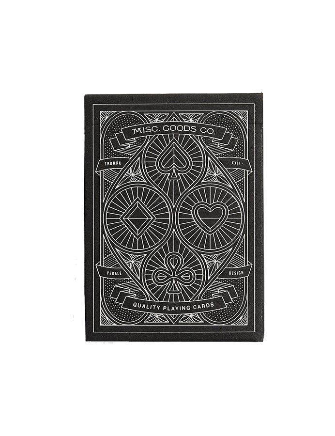 Black Deck of Playing Cards