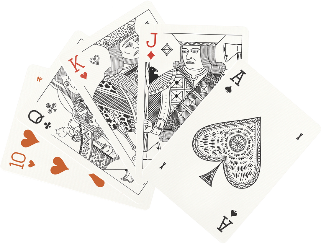 Ivory Deck of Playing Cards