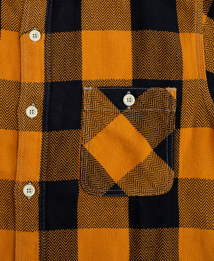 Block Check Flannel Shirt - Yellow