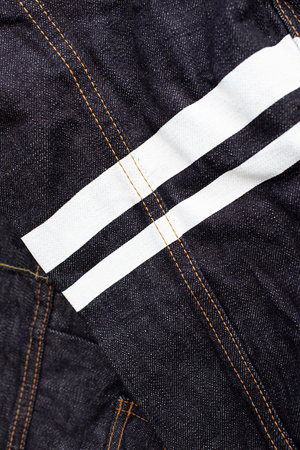 15.7oz - Side Pocket Type-2 Jacket - Indigo/White Stripes