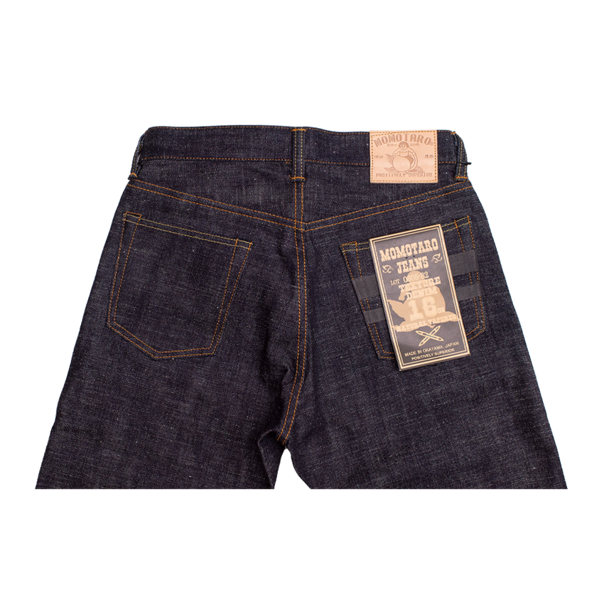 16oz - Texture Selvedge Black Battle Stripes - Natural Tapered - 0605-82