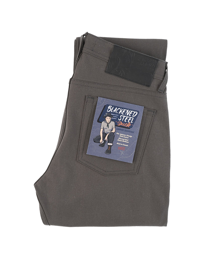 10oz - Blackened Steel Duck Selvedge - Charcoal