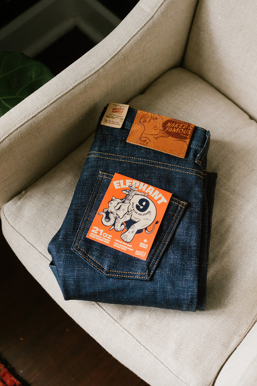 21oz - Elephant 9 - Wild Blue Selvedge - Super Guy
