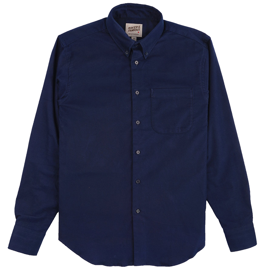 L/S Easy Shirt - Natural Indigo Dyed Flannel