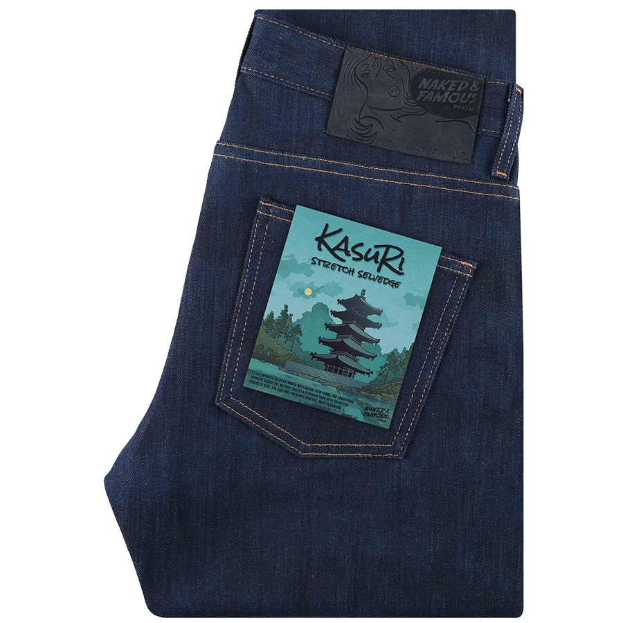 12.5oz - Kasuri Stretch Selvedge - Super Guy