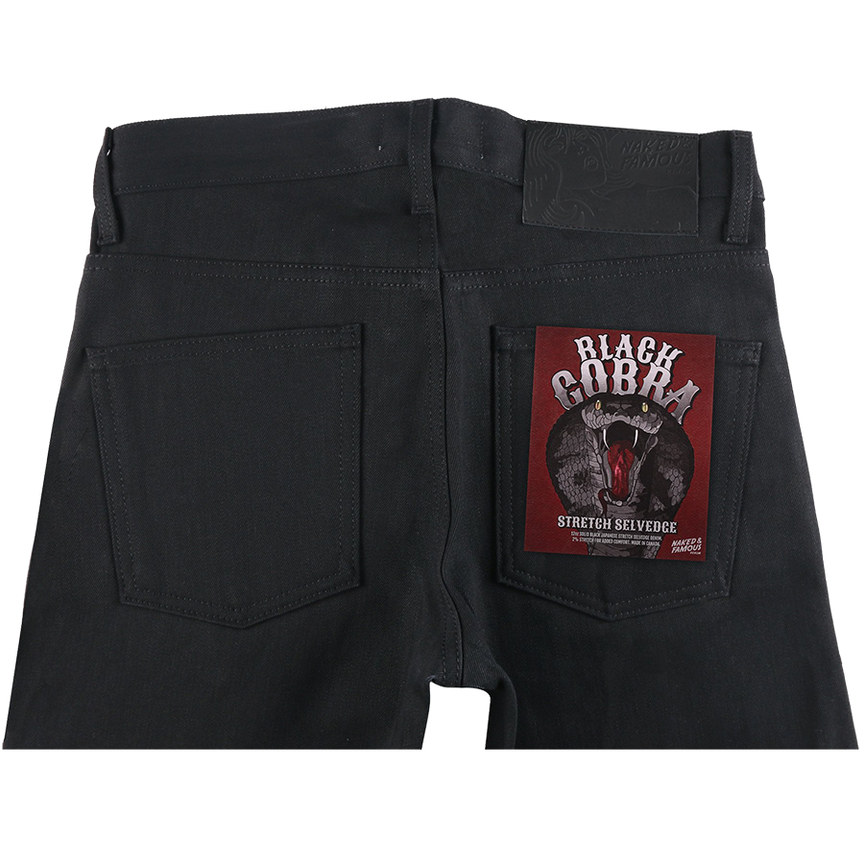 12oz - Black Cobra Stretch Selvedge - Super Guy