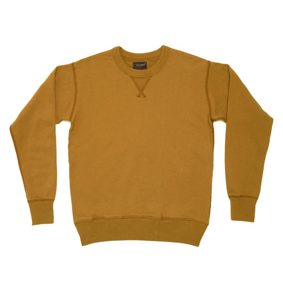 Single V Warm Up Piece Dyed Terry 11oz - Old Gold
