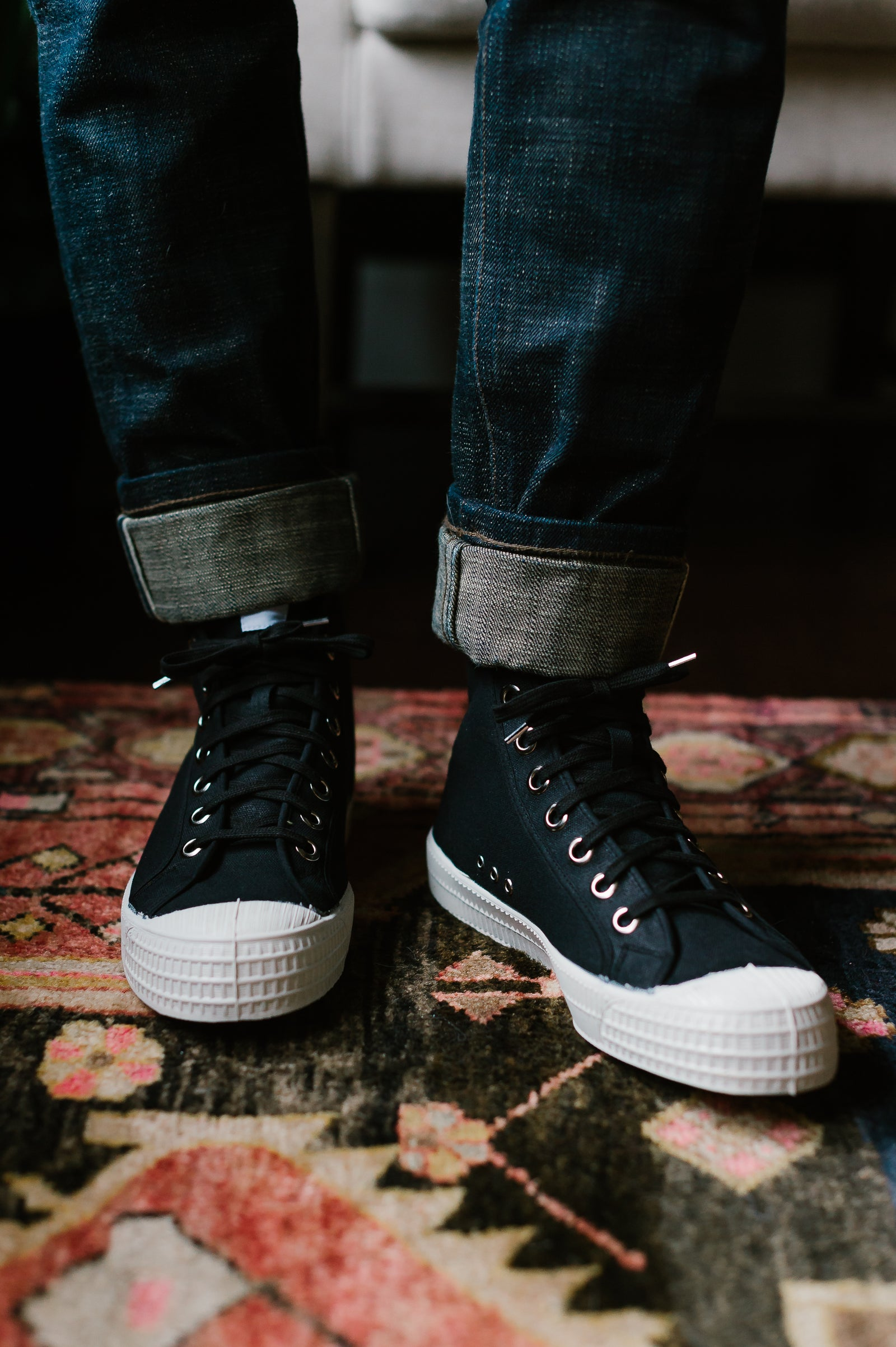 Star Dribble 60 High Top - Black/White