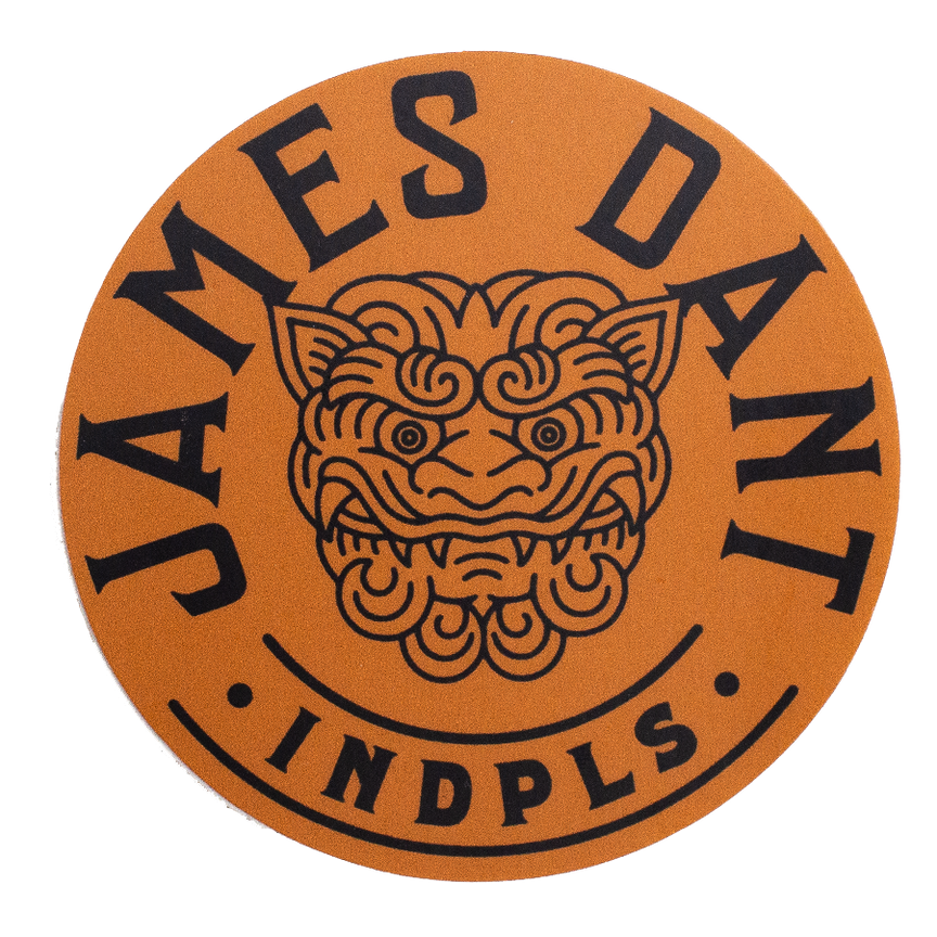 James Dant Round Logo Sticker - Orange