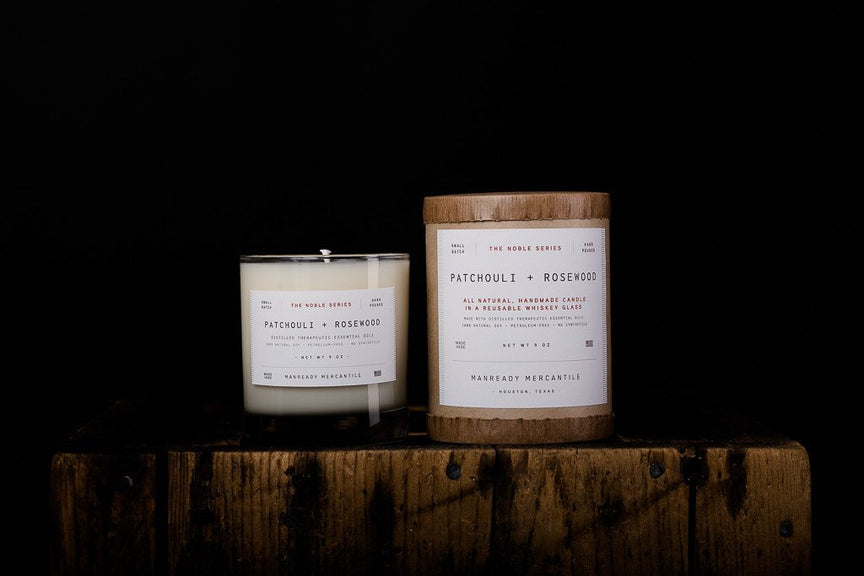 Noble Series Candle - Patchouli + Rosewood