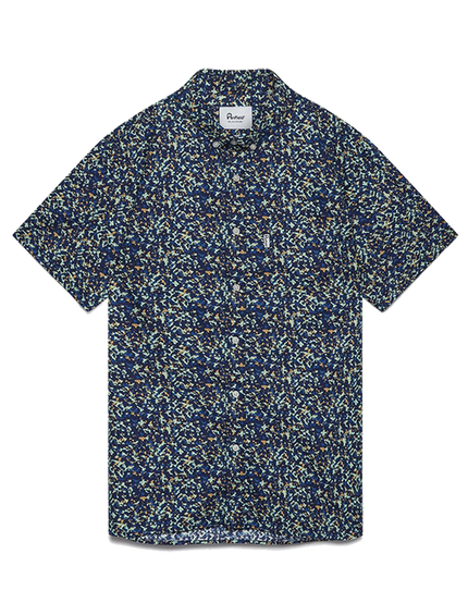 Reeves Camo Print Shirt - Navy