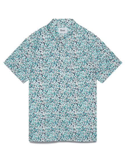 Reeves Camo Print Shirt - White