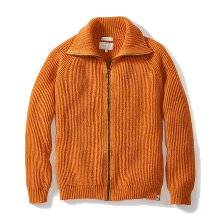 Foxton Zipper Cardigan - Orange
