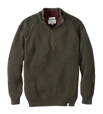 Foxton 1/4 Zip Neck Jumper - Olive