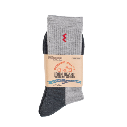 IHG-030 - Iron Heart Work Boot Sock - Grey