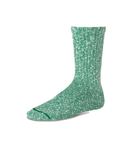 Cotton Ragg Sock - Green