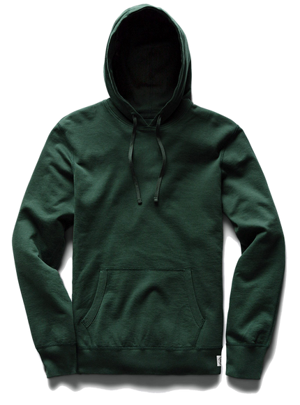 Mid Wt Terry Pullover Hoodie - Forest Green