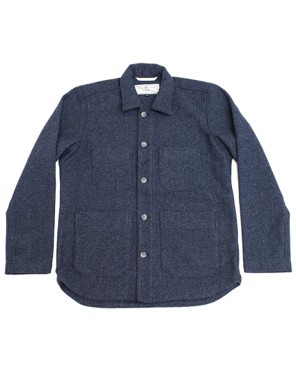 Harbor Jacket - Blended Wool Indigo