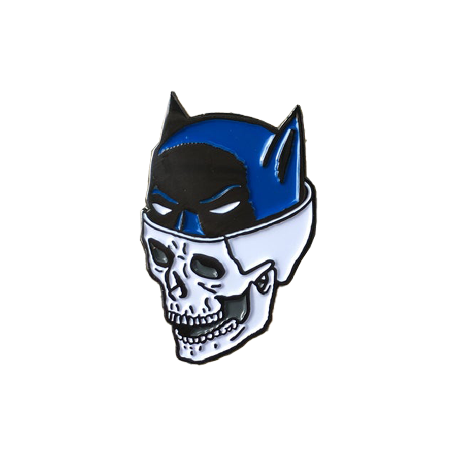Batskull Pin - Blue