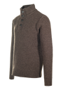 SW1614 - Funnel Neck Military Sweater - Coffee Bean