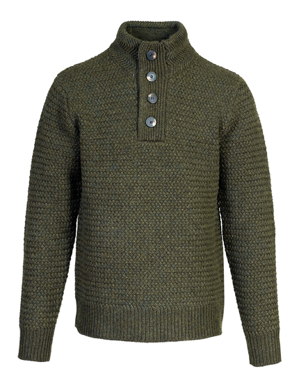 SW1614 - Funnel Neck Military Sweater - Moss