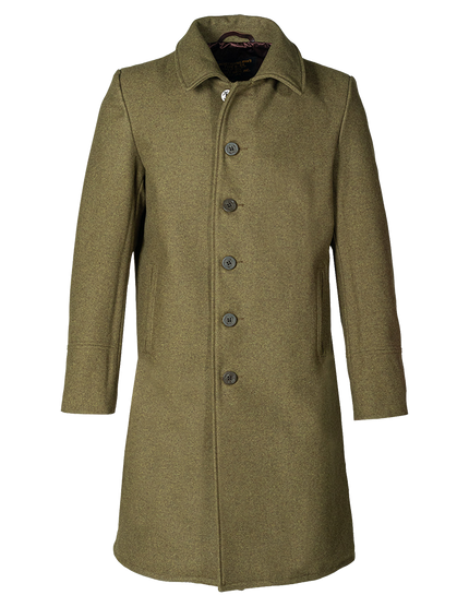 C729NE - Single Breasted Officers Trench Coat - Olive