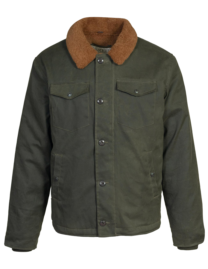 8939 - Waxed Cotton Deck Jacket - Olive