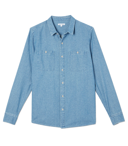 Shadows L/S Shirt - Stone Blue