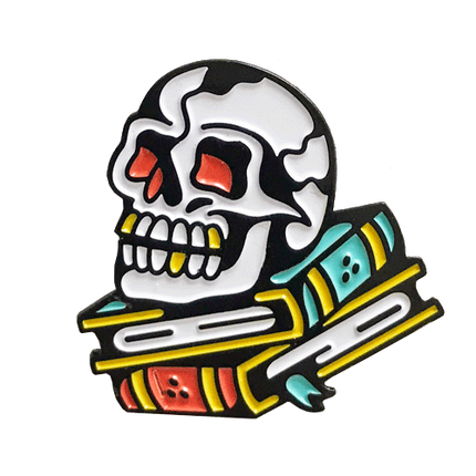 Ash Price x Strike Gently Co: Books Pin